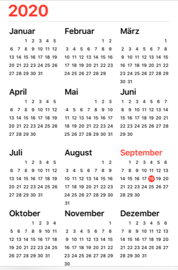 Kalender Symbolbild 3